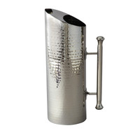 Hammered Stainless Steel Pitcher, 60-Ounce