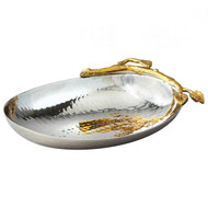 Golden Vine Nut Bowl Hammered Stainless Steel