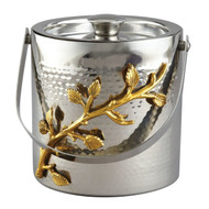 Golden Vine Hammered Ice Bucket