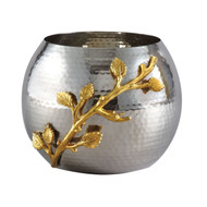Golden Vine Hammered Pot