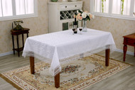 Flower Bow Damask Tablecloth Vintage Lace Design