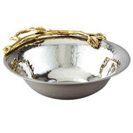 Golden Vine Hammered Bowl Stainless Steel