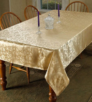 European Floral Design Tablecloth (Gold)