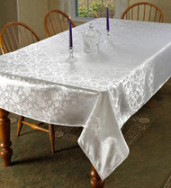 European Floral Design Tablecloth (White)