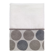 Dotted Circles White Hand Towel