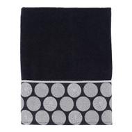 Dotted Circles Black Bath Towel