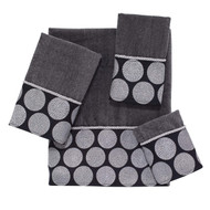 Dotted Circles Granite Hand Towel