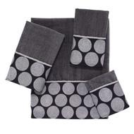 Dotted Circles Granite Hand Towel