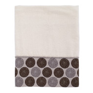 Dotted Circles Ivory Bath Towel
