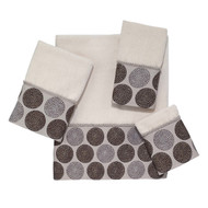 Dotted Circles Ivory Wash Cloth