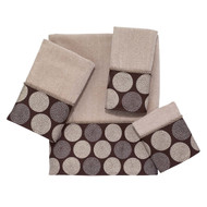Dotted Circles Linen Hand Towel