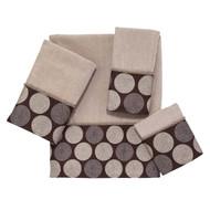 Dotted Circles Linen Fingertip Towel