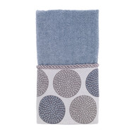 Dotted Circles Mineral Fingertip Towel