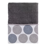 Dotted Circles Nickel Hand Towel
