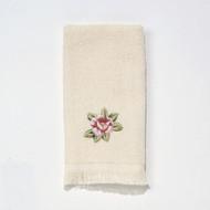 Rosefan Ivory Fingertip Towel