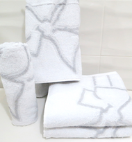Bow Grey Oversized Hand Towel