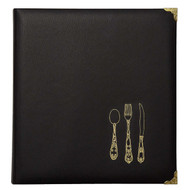 Leatherette Recipe Binder - Black