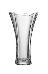 "European Glass Crystalline Vase, 12""H"