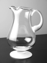 Glass Pitcher with Opal Handle and Base