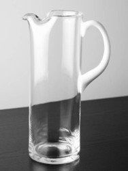 Straight Sided Glass Pitcher with Opal Handle