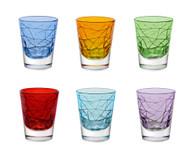 Shot Glasses, Set of 6 Assorted Colors