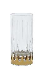 Atlanta Water Glasses, Set of 6, 24K Gold