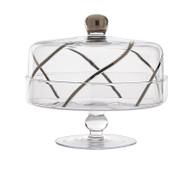Vintage Cake Dome, 24K Platinum