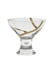 Vintage Dessert Cups, Set of 6, 24K Gold