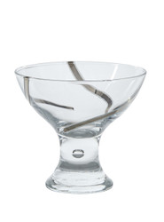 Vintage Dessert Cups, Set of 6, 24K Platinum