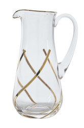 Vintage Water Pitcher, 24K Gold