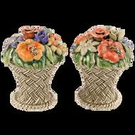 Basket of Flowers Salt & Pepper Shakers