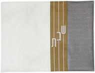Three-Tone Horizontal Stripe Challah Cover