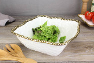 Golden Salerno Large Square Salad Bowl