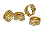 Crumpled Leaf Napkin Rings