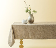 Taupe Suede Tablecloth