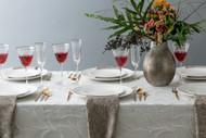 White Leaf Tablecloth