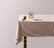 Taupe Velvet Tablecloth
