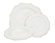 Allendale Bone Gold Place Setting (Service for 4)