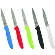 "Set of 3 4"" Knife - Pointed Tip/Wave Edge"