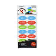 Kosher Labels on Sheets French - Assorted