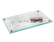 Glass/Stainless Steel Reserve Challah Board