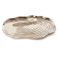 Silver Tree Bark Tray, 16""