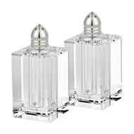 Lead Free Crystal Pair Salt & Pepper - Spirit Platinum