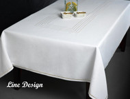 Loft Lurex Metallic Stitch Line Design Tablecloth