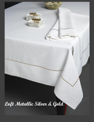 Loft Lurex Metallic Stitch Silver Tablecloth