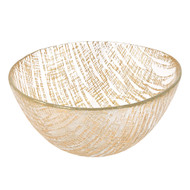 "Badash Gold Lines 6"" Glass Bowl"