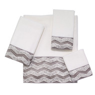 Chevron Galaxy White Towels