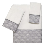 Deco Shell White Towels