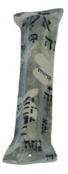 Ceramic Black Printed Mezuzah