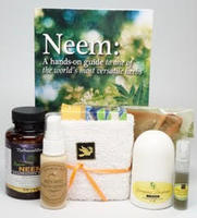 Neem Product set- Neem Capsules,  extract, Neem book and Neem Cream